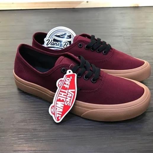 Jual Sepatu Vans Authentic Warna Merah Maroon Kab Banyumas