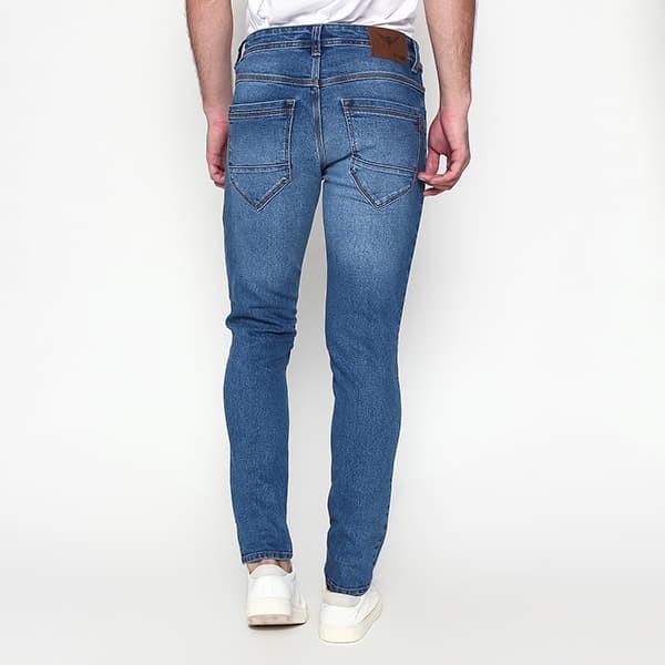 Foto Produk 2Nd RED Jeans Pria Slim Fit Premium Melar Aksen Wash Mid Blue 133256 - Biru Muda, 29 dari 2nd RED Jeans