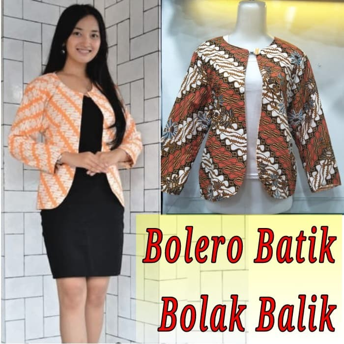 ... harga Cardigan batik bolak balik bolero batik terbaru kardigan batik  murah Tokopedia.com f4ae5aea71