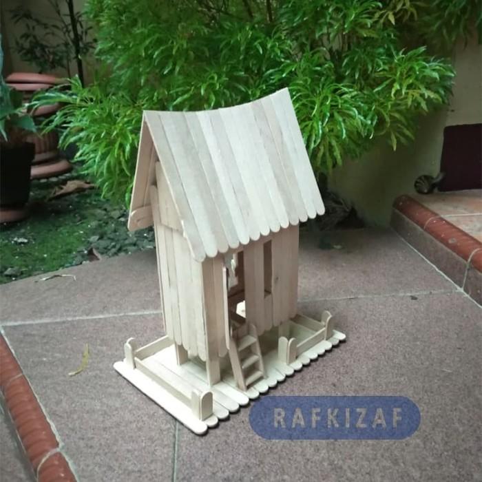 Jual Prakarya Maket Miniatur Rumah Adat Minang Padang Dari Stik Es Krim Dki Jakarta Rafkizaf Tokopedia