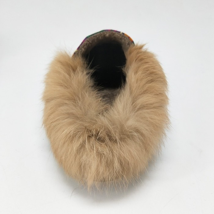 f7e1a949d0bb1 MNIXUAN Fur mules shoes women 2017 winter new handmade embroidered