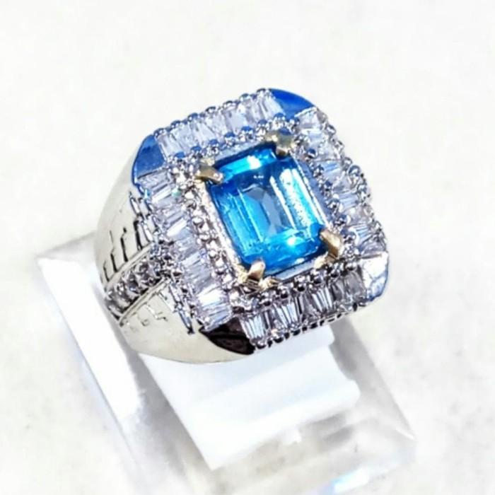 Jual Ready - Cincin Batu Akik Permata Natural Swiss Blue Topaz Octagon -  Jakarta Barat - shelbamherndon | Tokopedia