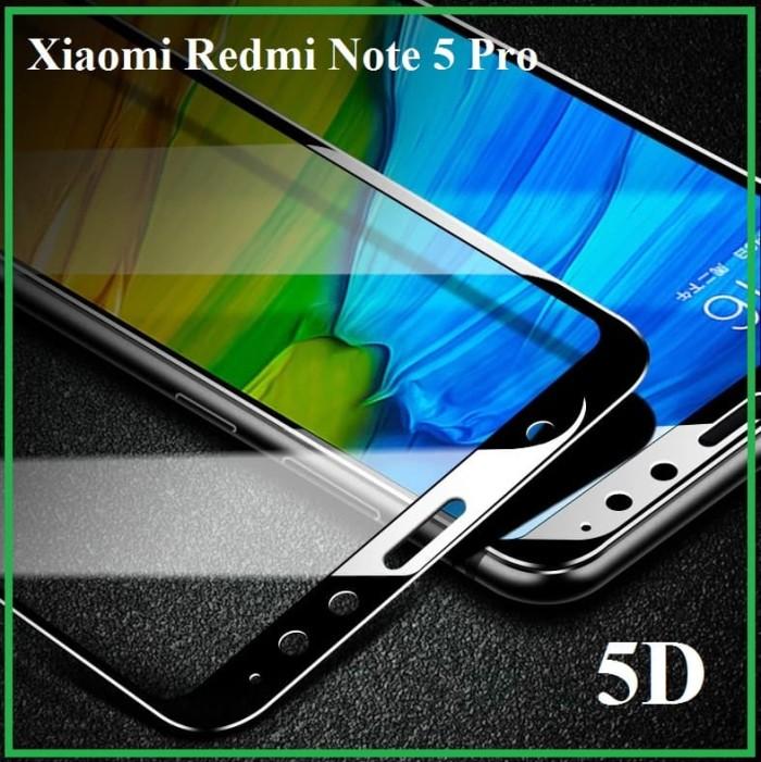 Tempered Glass 5D Full Glue Xiaomi Redmi Note 5 Pro Anti Gores Kaca 5D - Putih