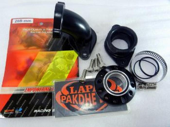 Foto Produk Intake manifold 28 mm motor bebek WRD Original ( komplit + rotary dari fisa erna shop