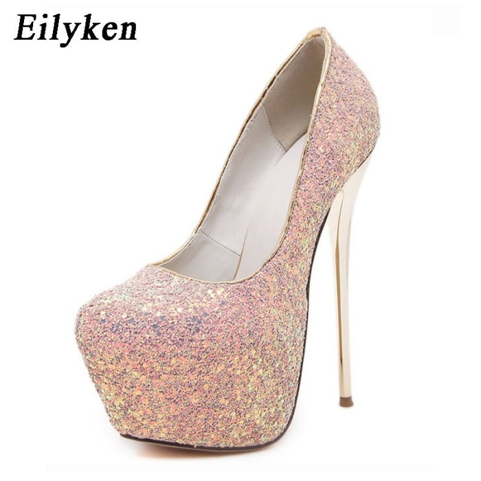 e1e6d4af8783b2 Jual Eilyken 2018 New Platform Ultra High Heels Woman Shoes Sexy ...