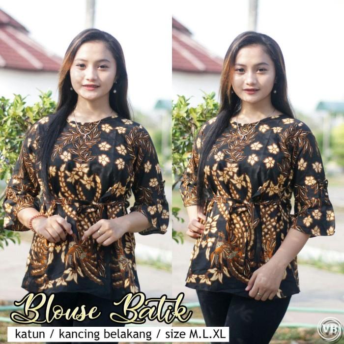 Jual Seragam Kerja Batik Wanita Atasan Batik Wanita Kantoran Terbaru Vlr25 Batik Nakula Tokopedia