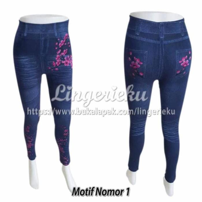 Jual Celana Legging Sorex Model Terbaru Motif Jeans 2966 Dijamin Murah Jakarta Barat Agathadyah Tokopedia