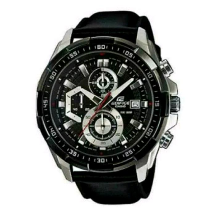 harga Jam casio edifice efr 539l - 1av leather black series Tokopedia.com
