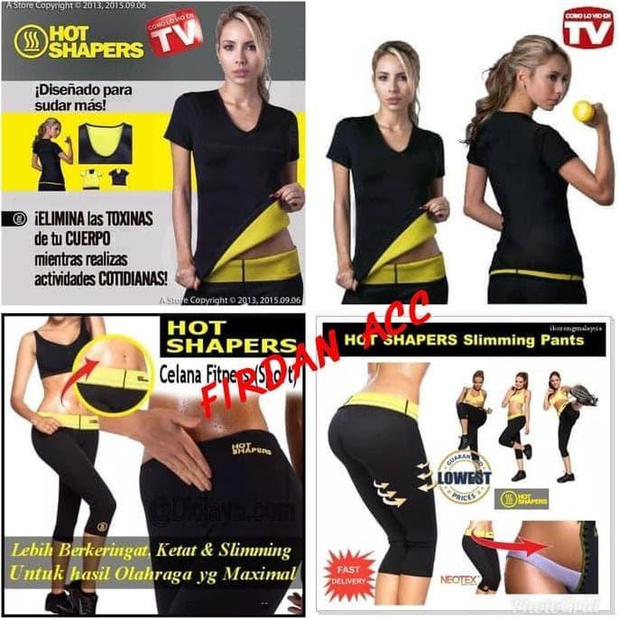 767642b359 Paket Hot Shapers Baju Plus Celana Pants Pembakar Lemak  Setelan Senam