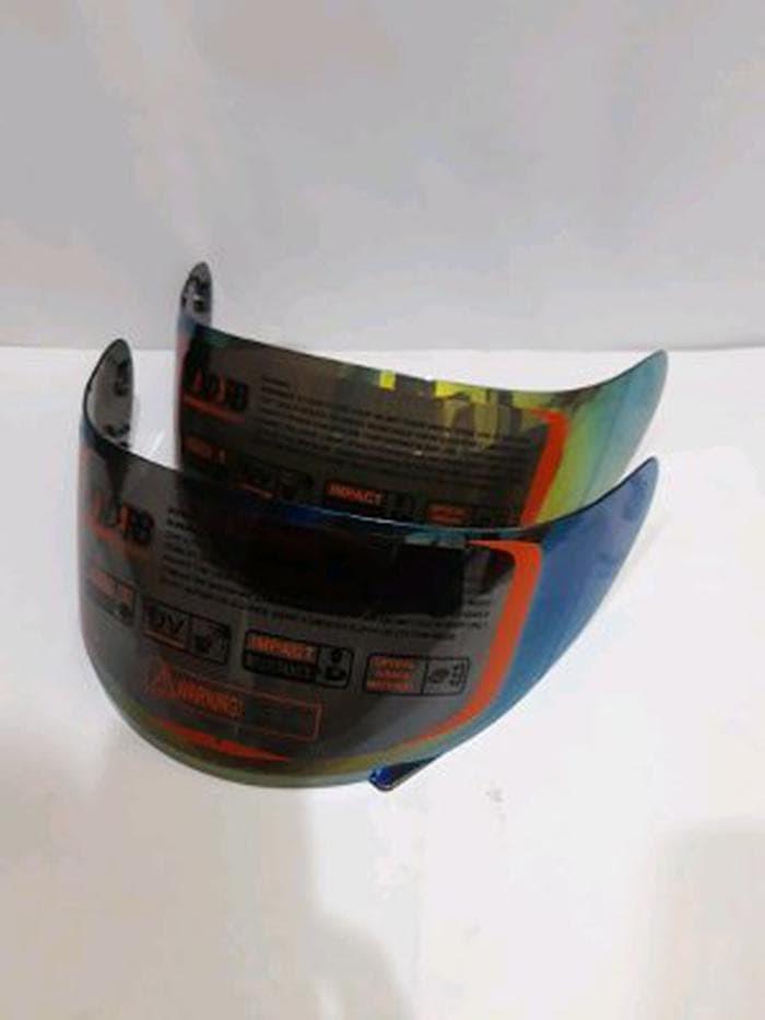 Foto Produk kaca helm flat iridium rainbow-pelangi pnp kyt r10 kyt rc7 kyt Bagus dari Faresa galery
