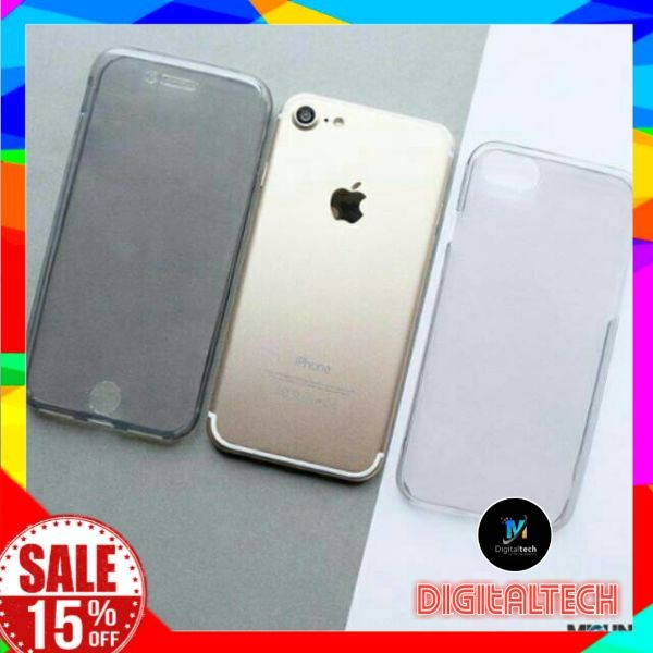 hot sale online 7e6eb 48b18 Jual DOUBLE SIDE 360 JELLY CASE iPhone 5 6 7 Plus Baru - DKI Jakarta -  DigitalTech07 | Tokopedia