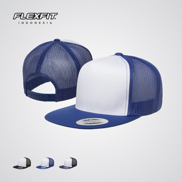 db271a0b Jual Topi Flexfit Yupoong 6006W Classic Trucker with White Front ...