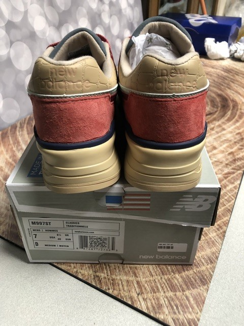 finest selection 6d0f6 fd5f2 Jual Sneakers NEW BALANCE M997ST MADE IN USA BNIB PERFECT COPY BEIGE RED -  NAA Development   Tokopedia