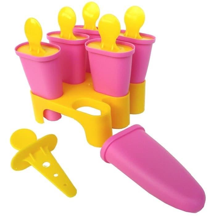 IKEA CHOSIGT Cetakan es loli, pink-kuning / biru-hijauu