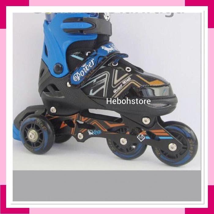 Jual Sepatu Roda Bajaj Ban karet  inline skate PU WHEELS Anak dan ... 5a99342802