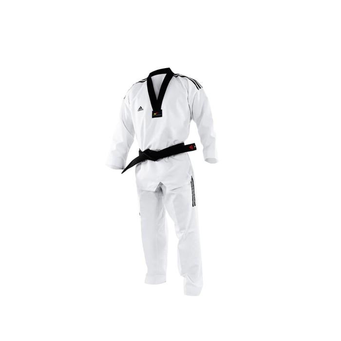 Foto Produk Adidas Adi GRANDAMSTER Dobok Taekwondo 3 stripe black - ADITGM02 dari Adidas Combat Sports