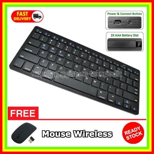 Jual Keyboard Wireless Komputer for Android Tablet iPhone Samsung Smart TV  - Jakarta Barat - Laptop Murah Jakarta | Tokopedia