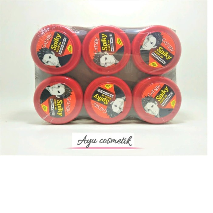Gatsby Wax Spiky Stand Up POWER & SPIKES 75gr Banded 6pcs Berkualitas