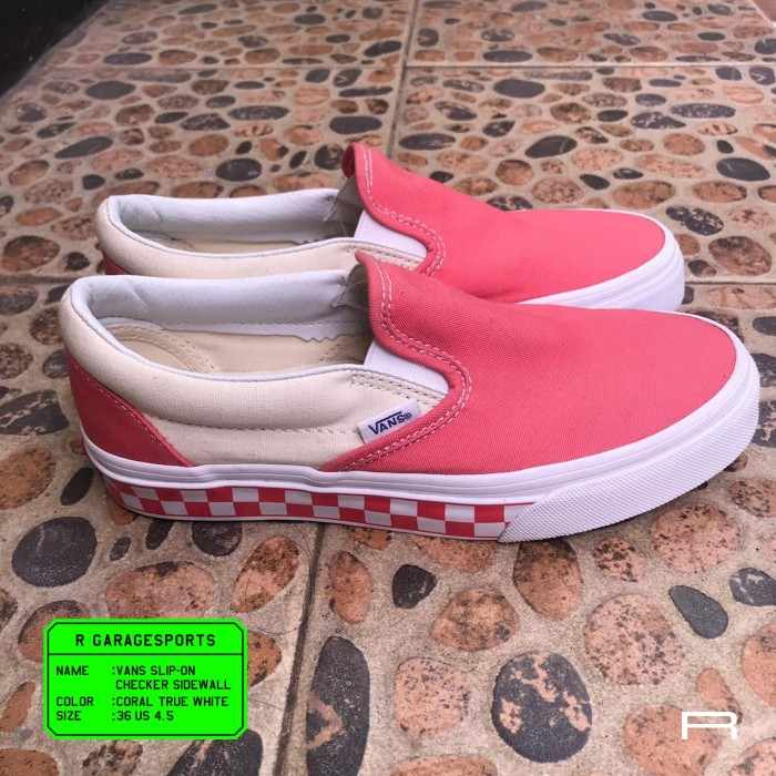 cef98fc3c0 Jual Vans Slip-on Checker Sidewall Pink - R Originals Sports