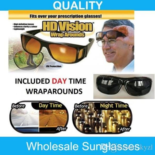 Kaca Mata HD Vision 1 Box Isi 2 Anti Silau Kacamata Siang Dan Malam e0e045df45