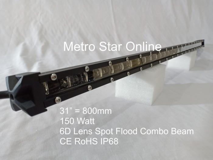 """Foto Produk LED Light Bar Super Slim 31"""" 150w 6D Lens Spot Flood Combo Beam dari Metro Star Online"""