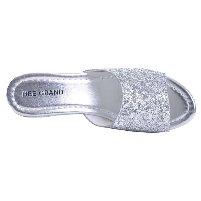 e95c90db47bbb2 Jual HEE GRAND Women Slippers Bling Bling Glitter Platform Wedge ...