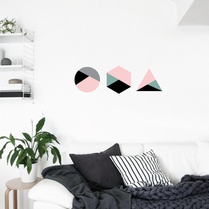 jual wall sticker instagramable - geometris stiker hiasan dinding