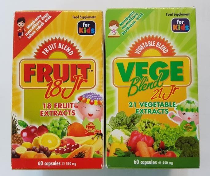 Paket Fruit 18 Jr isi 60 dan Vege 21 Jr isi 60
