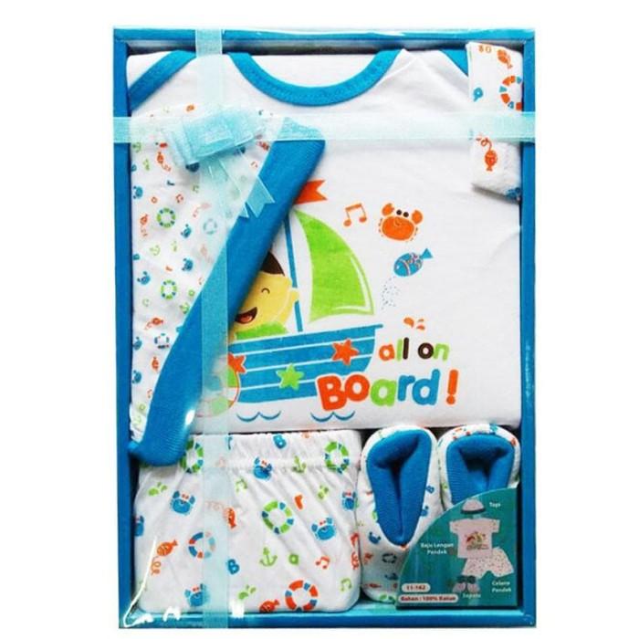Kiddy Baby Gift Set Kapal Laut Biru 11162 - Perlengkapan Baju Bayi