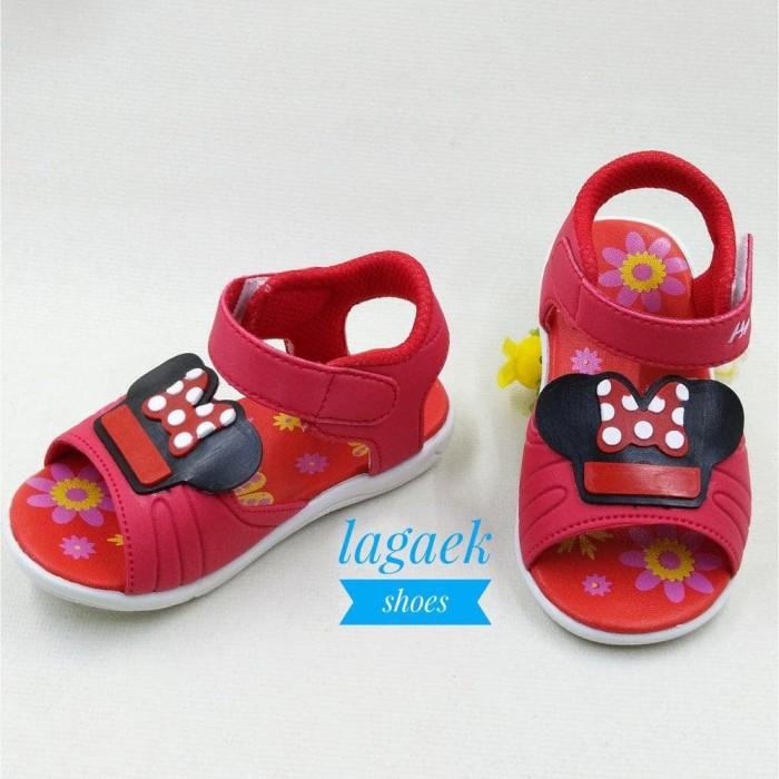 Foto Produk Sepatu Sendal Anak 1 2 3 Tahun Perempuan Alas Karet Cute Merah Motif dari Ratih - Collection