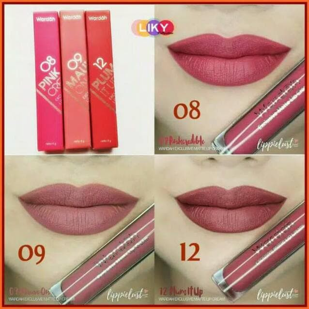 Jual Lipstik Lengkap No 1 18 Lip Cream Wardah Exclusive Lip Cream