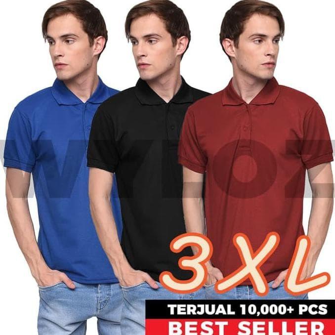 Harga Terbaru Kaos Polo Shirt Kerah Baju Pria Polos Big Size Lacoste ... 2210429786