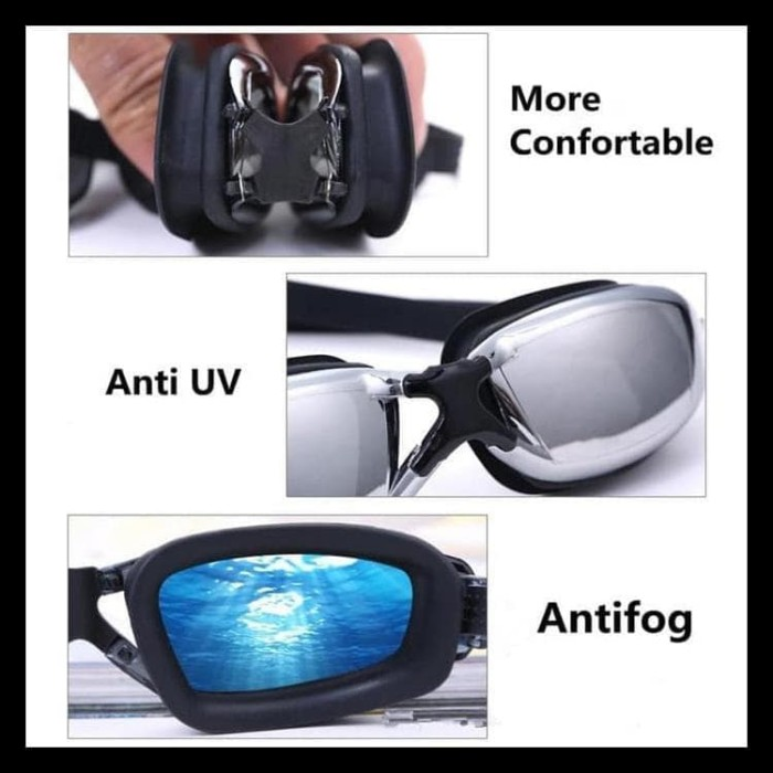 Jual MURAH kacamata renang minus kaca mata renang minus MIOPI anti ... 1af96e30fa