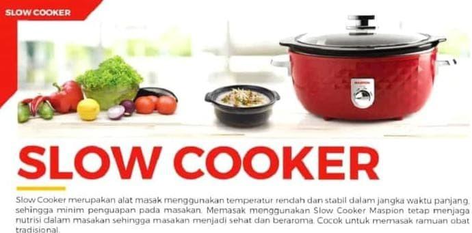 Murah Slow Cooker Maspion Msc 6500 Rice Cooker Ceramic Steamer