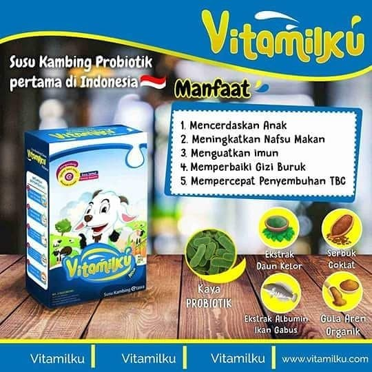 VITAMILKU-Susu Kambing Rasa Coklat|200gr