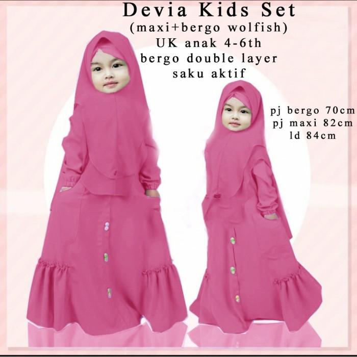 Jual Stellashoppie Devia Kids Set Baju Muslim Anak Lucu Gamis Anak ... 1a71d51bf3
