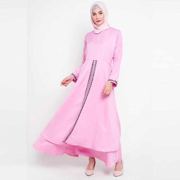 JV Hasanah Rasha Lace Dress - Pink
