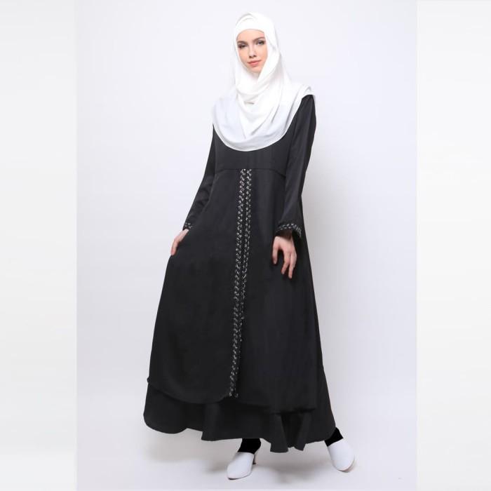 JV Hasanah Rasha Lace Dress - Black
