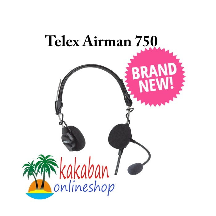 Jual Telex Airman 750 Headset Dual Ga Plugs Dki Jakarta Kakaban Online Shop Tokopedia