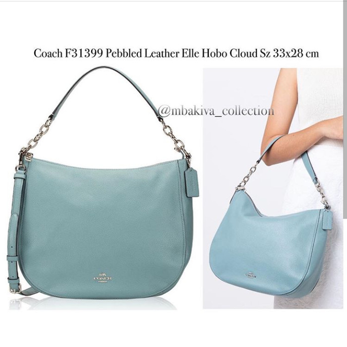 8d05c4d79f55 Jual Coach F31399 Pabble Leather Elle Hobo Cloud - Kab. Sidoarjo ...