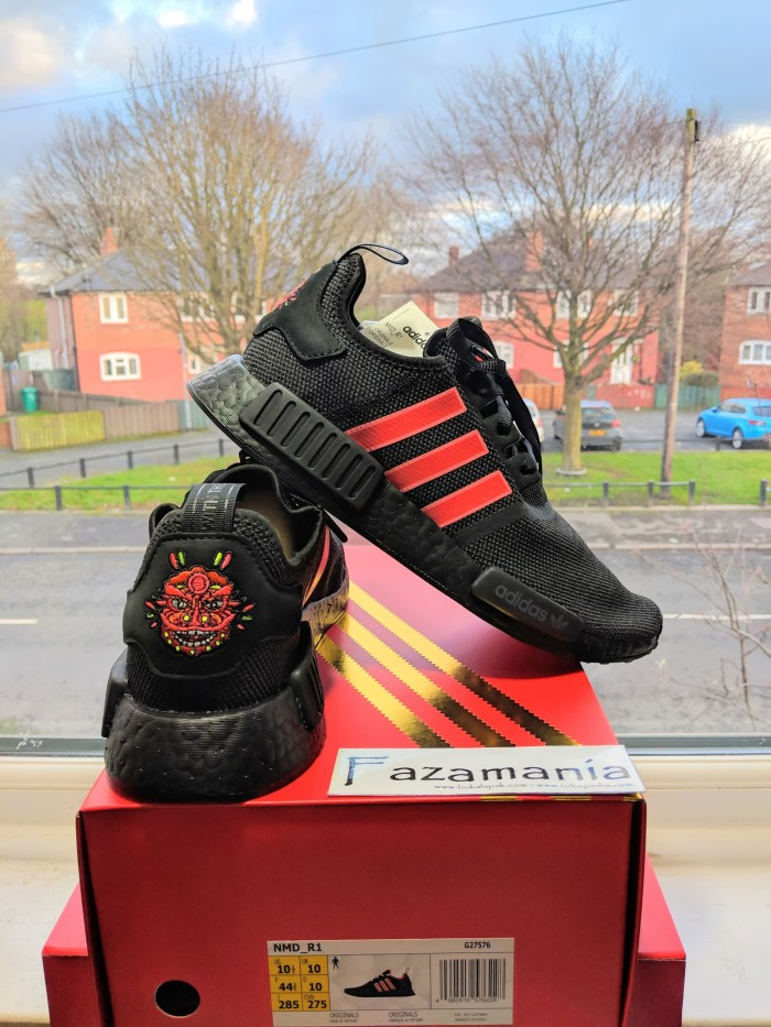 competitive price ed546 48e71 SEPATU ADIDAS NMD R1 TRIPLE BLACK RED CNY CHINESE NEW YEAR 2019