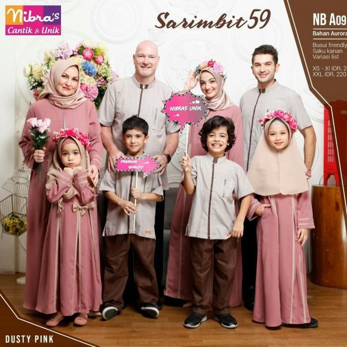 Jual Sarimbit Family Nibras 59 Warna Dusty Pink Baju Muslim Couple Keluarga Kota Tangerang Selatan Hibban Online Shop Tokopedia