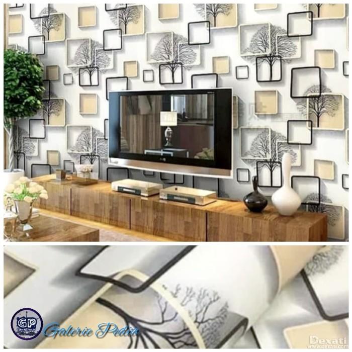 Jual Wallpaper dinding minimalis motif 3D premium Glory 048 45cm x