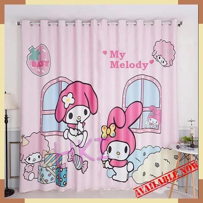 Tirai Kamar Mandi / Shower Curtain Hello Kitty My Melody