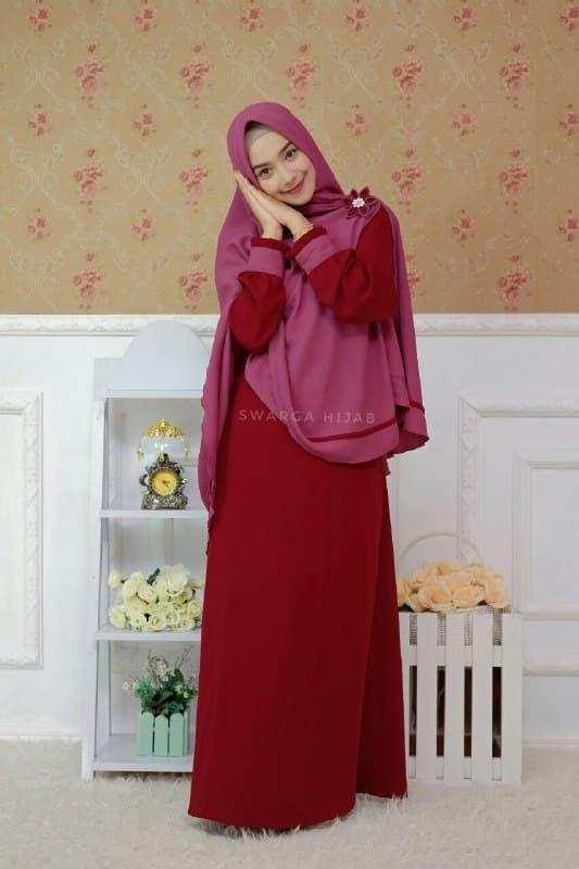 Jual Set Gamis Firda Maroon By Swarga Hijab Kab Tulungagung Galeri Busana Syari Tokopedia