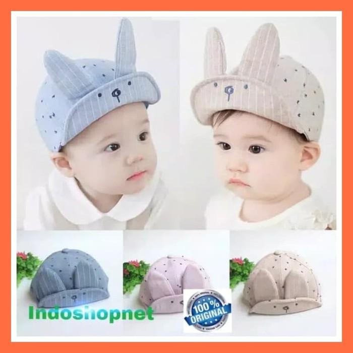 Topi Anak Bayi Laki-Laki Bahan Katun Dengan Telinga Impor Berkualitas d758c3e33d