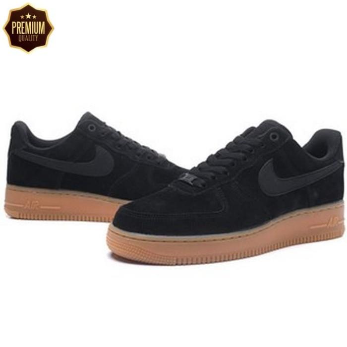 7e98cc61c0dd Jual TERLARIS- Nike Jordan Air Force 1 07 Low Black Gum Perfect Kick ...