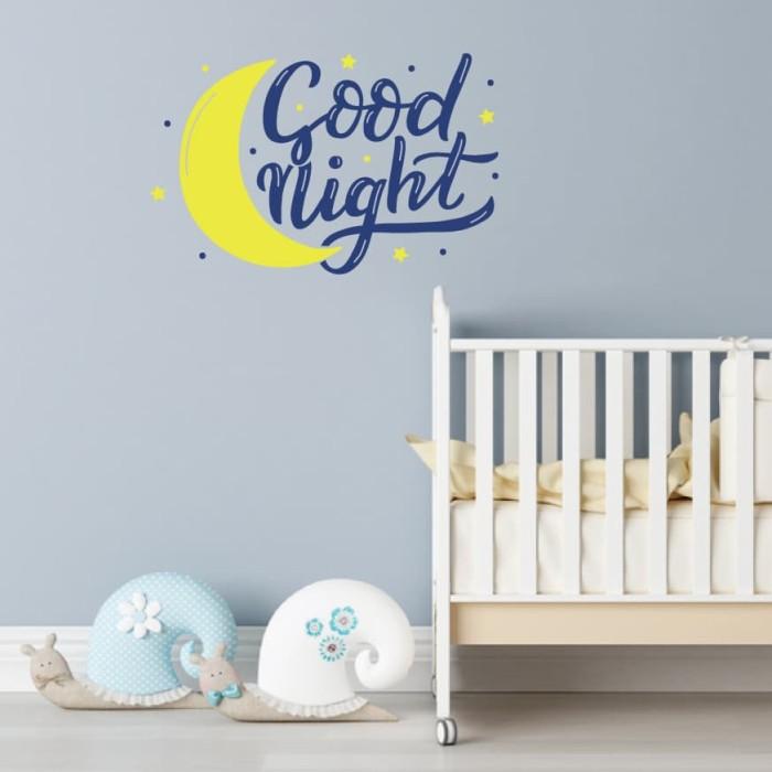 jual wall sticker quotes- good night stiker hiasan dinding kamar