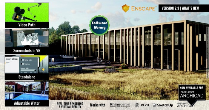 Jual Enscape 3D for Revit - SketchUp - Rhino - ArchiCAD (Latest Bersion) -  Jakarta Timur - Software Library | Tokopedia