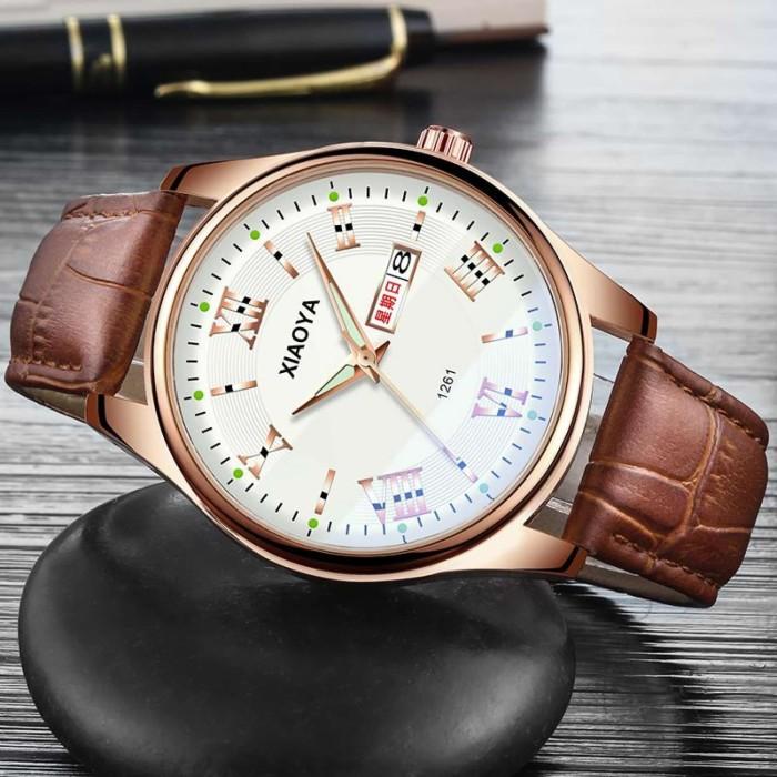 Jam tangan pria Tahan Air modis 2018 model baru Gaya Korea Tren murid -  Cokelat 2259e4d6d6